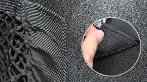 Image 5 - 車のインテリアネット車のトランクシートバック弾性メッシュネット車スタイリング収納袋ポケットケージマジックテープ