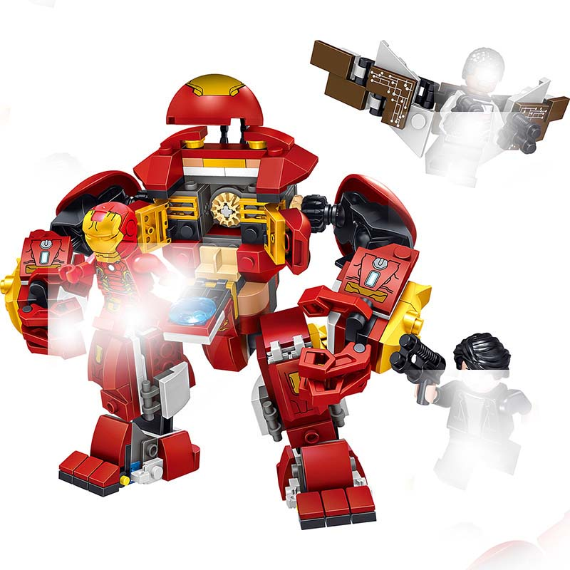 Able Ironman Hulkbuster Smash-u Building Blocks Compatible Legoings Iron Man 76104 Marvel Super Heroes Avengers Infinity War Toy Fashionable(In) Style;