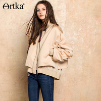 Artka Autumn Women Bomber Jacket Embroidery Women S Windbreaker Short Baseball Jacket 2017 Female Plus Size