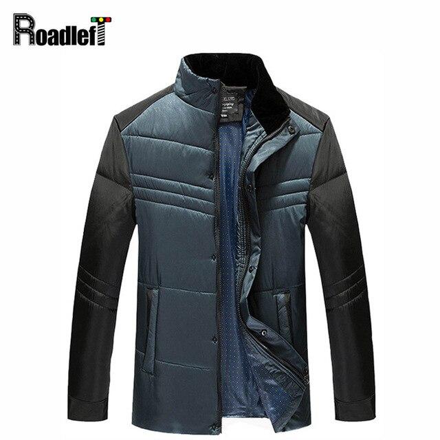 2016 Novo Macho Outono & Inverno fashion business casual jaqueta casaco de pato para baixo Homens jaqueta de roupas de lã Dos Homens outerwear topos