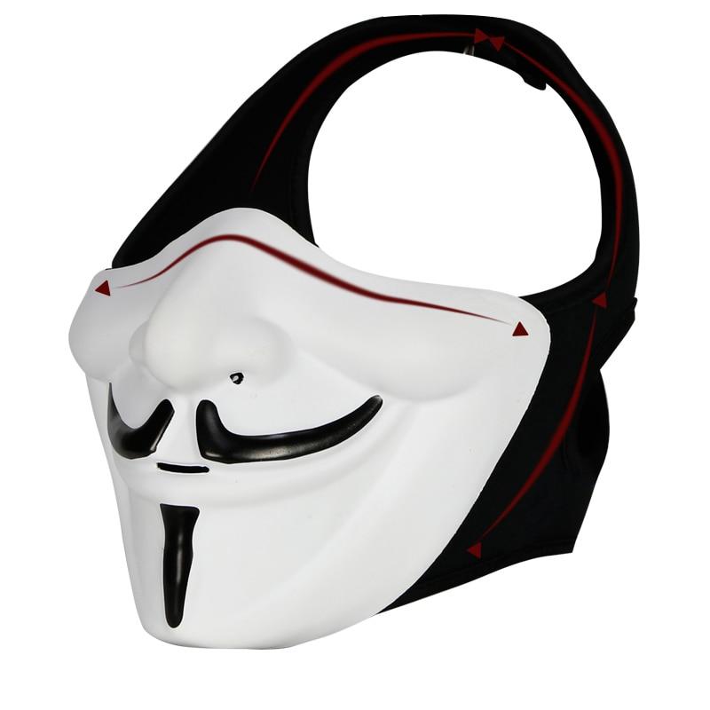 Motorcycle Helmet V For Vendetta Mask Motorcycle Face Mask