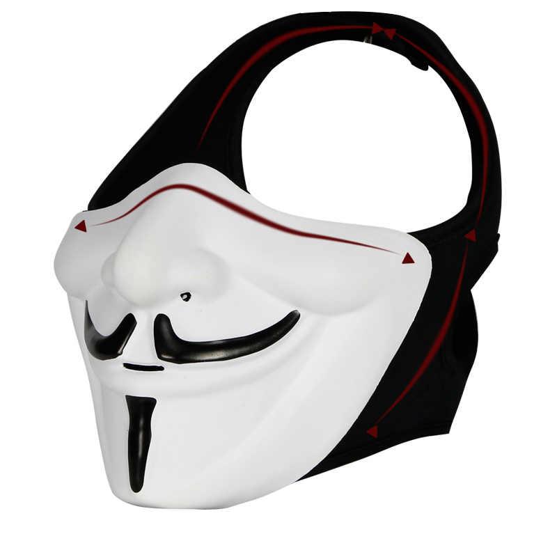Мотоциклетный шлем v для вендетты маска мотоциклетная маска Балаклава мотоциклетная Лыжная снегоход велосипедная полная маска под H