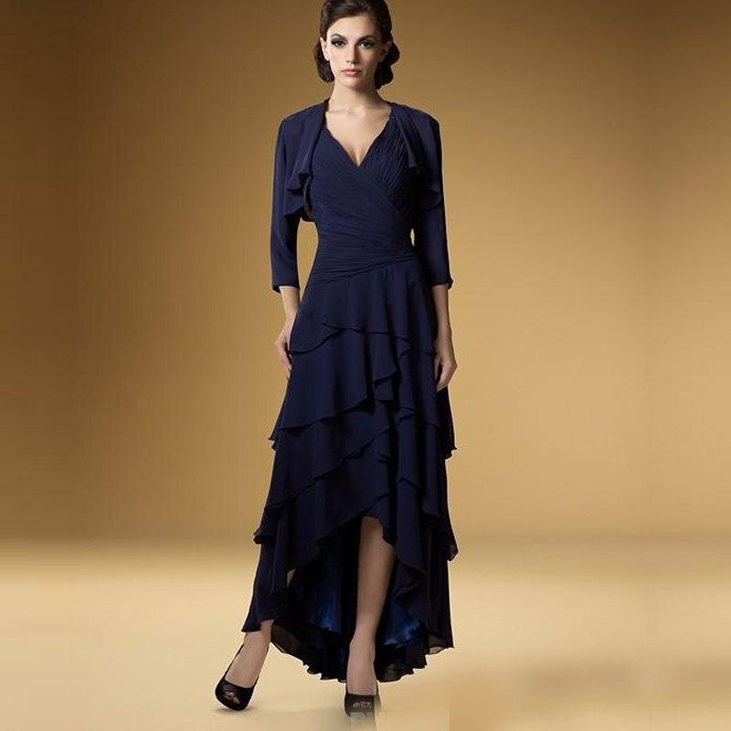BM1010 Navy Blue Long Mother Of The Bride Dresses 2016