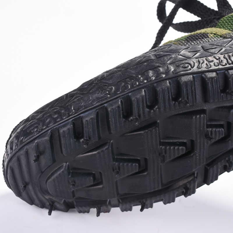 Kamuflaj kanvas ayakkabılar Erkekler Askeri Botlar Orman Ordu Savaş Botları Aşınmaya Dayanıklı iş ayakkabısı Erkekler Sneakers Ordu spor ayakkabıları