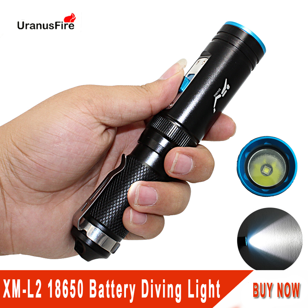 Underwater Diving Diver Flashlight Torch XM-L2 Led Light Lamp Waterproof 18650 Battery White Light Xm L2 Tactical Lantern
