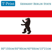 Free shipping 90*150cm/60*90cm/40*60cm/15*21cm Germany Berlin State FLAG 3X5FT