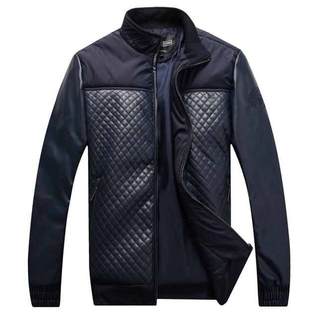 Куртка мужская 2016 новый стиль зимняя мода комфорт довольно pattern ткань PU лоскутное красивый colthing бесплатная доставка