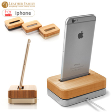 For iphone 7 wooden Bamboo Vertical Desktop dock for apple iPhone 6 6s 5s SE for