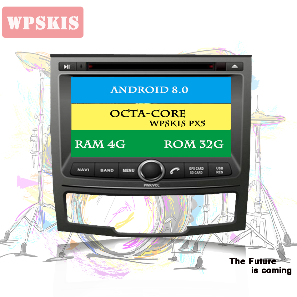 For SSANGYONG KORANDO 2010-2012 HD 1024*600 Capacitive screen Autoradio Stereo Headunit octa Core android 10.0 4G RAM Car DVD image