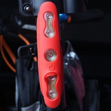 5 LED Bike Rear Light MTB Bicycle Seat Tube LED Light 7 Modes Sport Cycling Night Safety Warning Tail Lights RED Waterproof