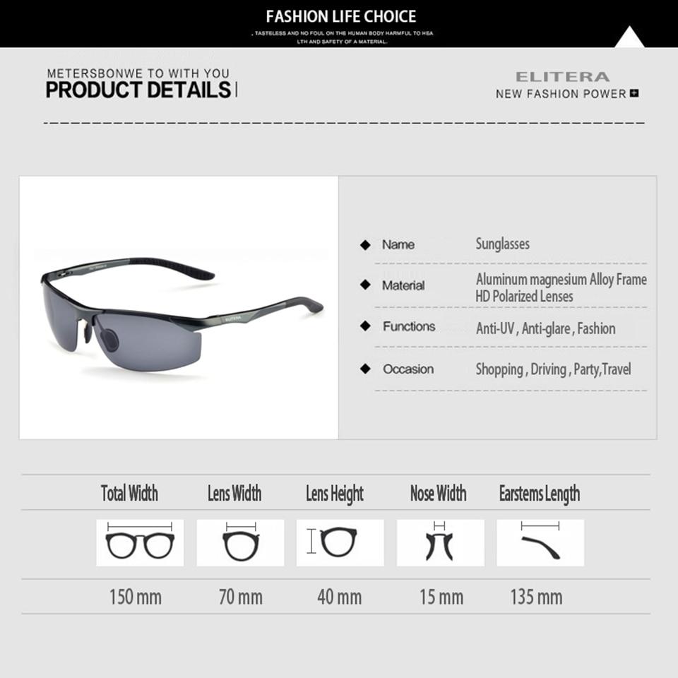 ELITERA marka muške aluminijske magnezij sunčane naočale HD - Pribor za odjeću - Foto 5