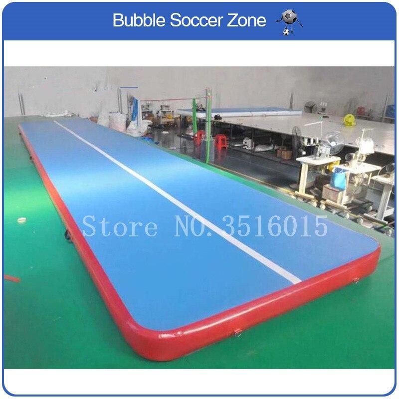 Livraison gratuite 7 m Air piste tapis gonflable gymnastique airtrack Tumbling Mat Air dégringolade tapis Air plancher tapis dégringolade piste avec pompe