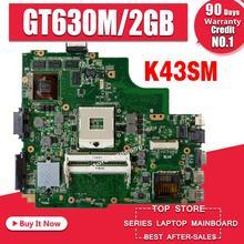 A43S K43SM Motherboard GT630M