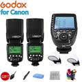 2x Câmera Flash Speedlite Godox Ving V860IIC V860II-C 2.4G GN60 E-TTL HSS 1/8000 s Li-ion Bateria + xpro-C para Câmeras DSLR da Canon