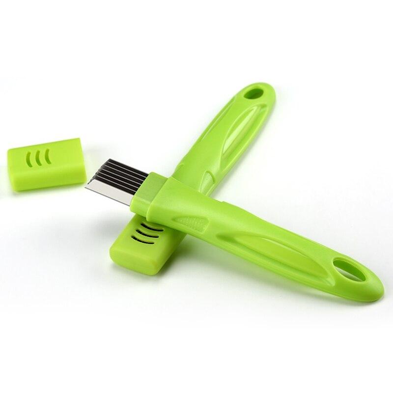 Kitchen Vegetable shredder Tools Stainless Steel Onion Scallion Slicer