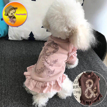 New Arrivals Spring autumn Dog Dress Dresses Pet Skirt Skirts cat Yorkshire  Clothing Supplies Dog Pet Apparel