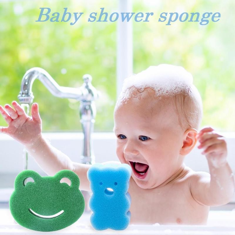 Infant Soft Bathing Tube Sponge Bath Brushes Kids Cartoon Shape Shower Products Children Bathroom Rubbing Brush Baby Bath Tool