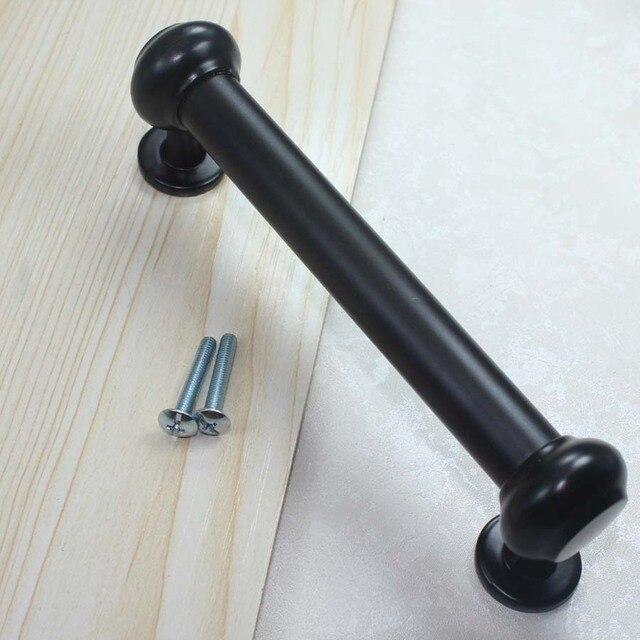 224mm Moderne Einfache Art Und Weise Schwarze Möbel Tür Große Griff Schwarz  Küchenschrank Kommode Schrank Kleiderschrank