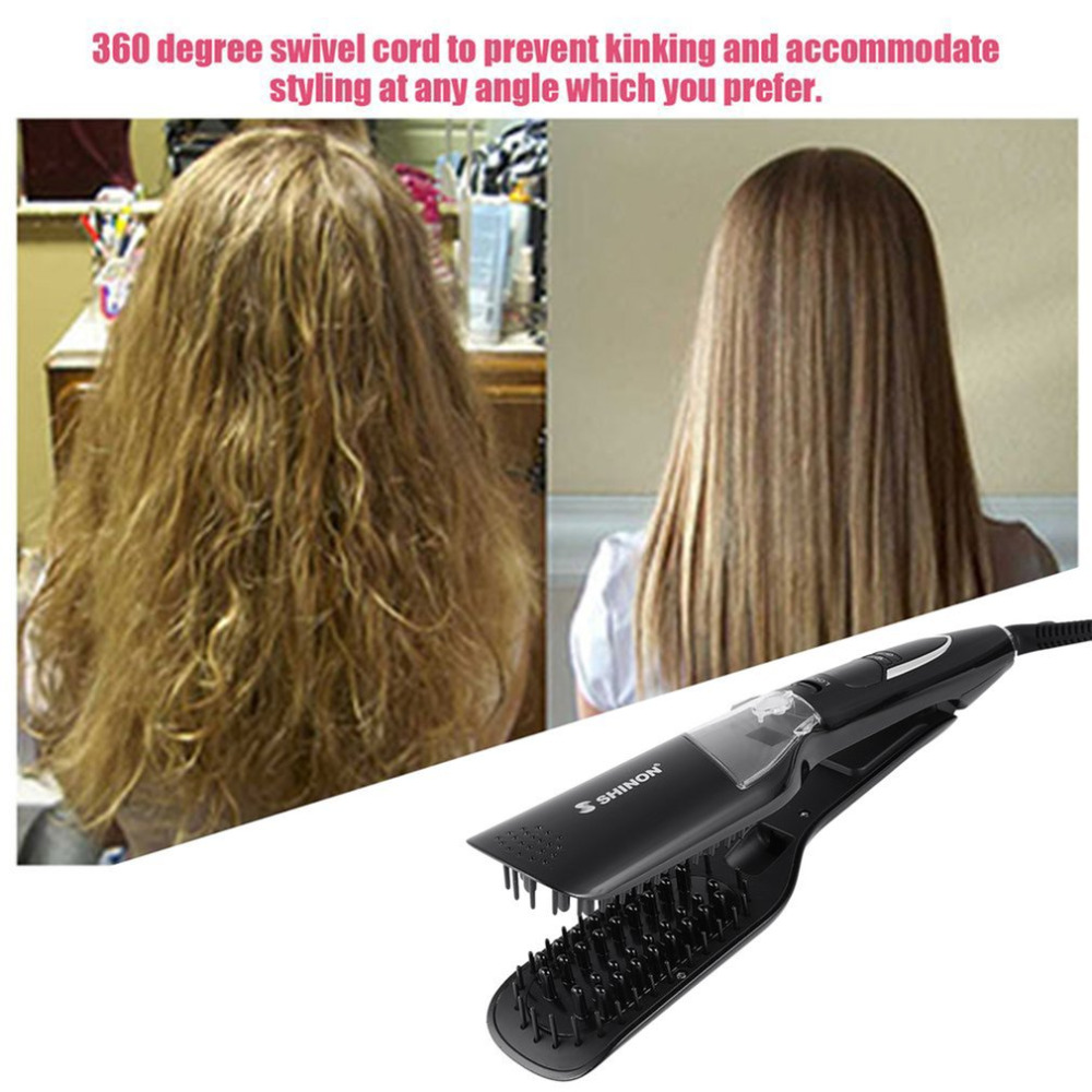 Professional Hair Salon Steam Styler Hair Straightener Heater Hair Straightening Hair Care Tool For Dry & Wet TG-8729 2017 new hot sale professional salon ptc heating white color ceramic negative ions steam automatic hair curler hair style tools