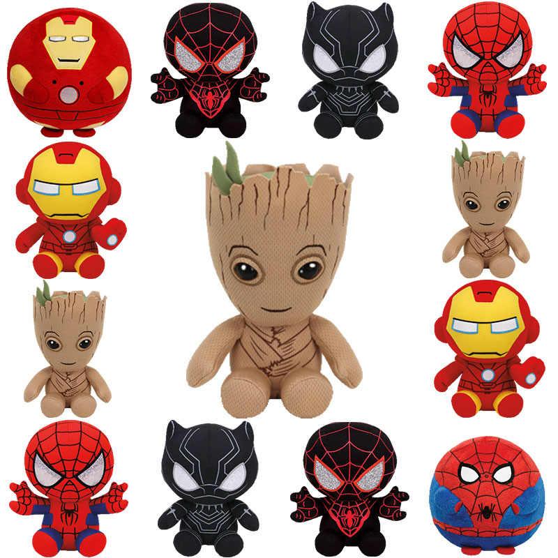 Железный человек Человек-паук Капитан Американский Халк мертвый бассейн плюшевая детская игрушка 15 см детский подарок на день рождения Супергерои фигурка