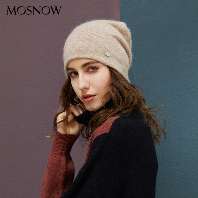 Rabbit Hair Winter Hats For Casual Autumn Knitted Beanie Girls