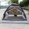 Ao ar livre PU1000mm Poliéster Rainfly Barraca de Camping para 2 Pessoa Single Layer Portátil Praia Tendas Camuflagem