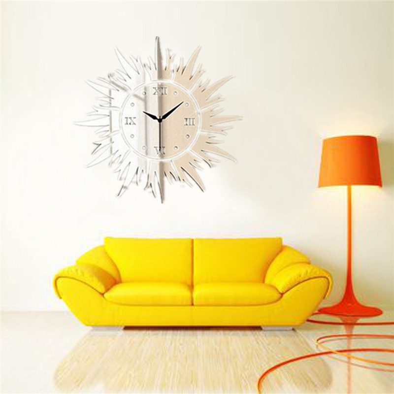 3d luxury wall stickers diy quartz time clock acrylic for 3d acrylic mirror wall sticker clock decoration decor