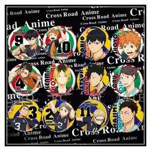 58MM Anime Badge Haikyuu Hinata Syouyou kageyama tobio sawamura daichi Badge Pin Brooch Backpack Badge Fans pin