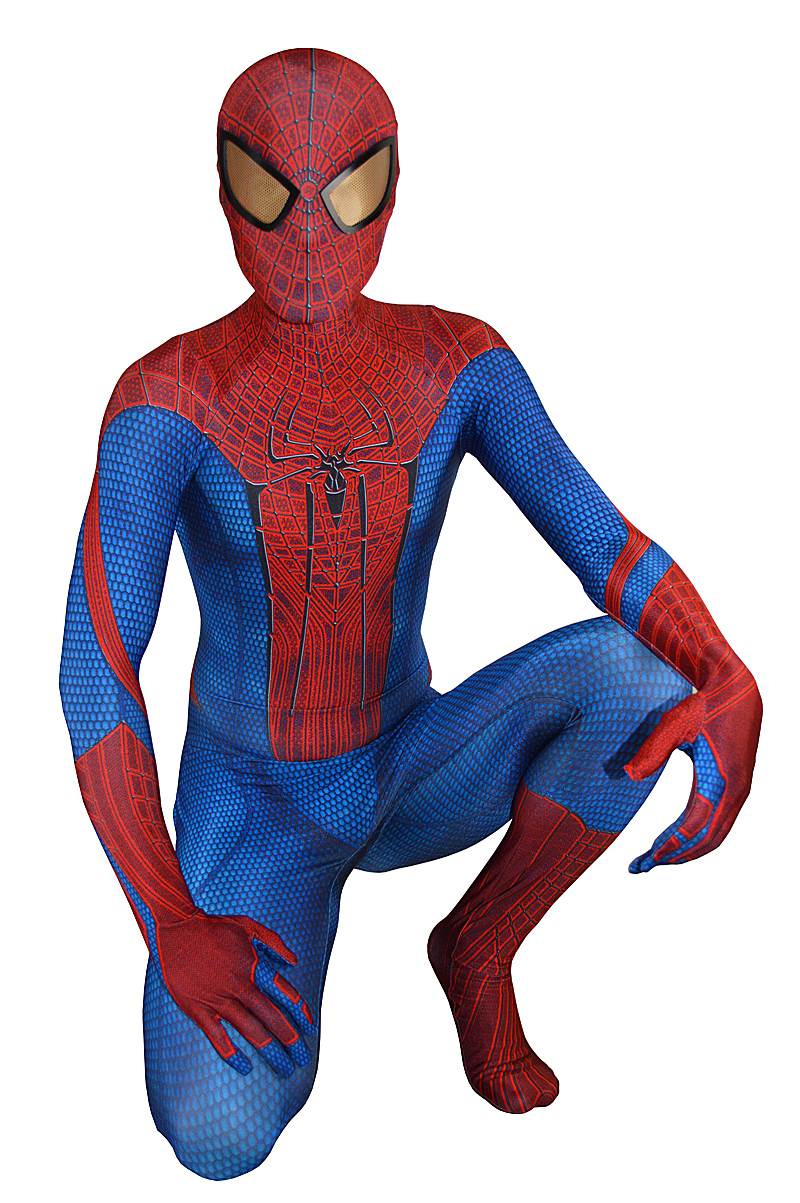 Classic Movie Amazing Spiderman Costume Original 3D Print Spandex Spider-man Superhero Costumes Halloween Fullbody Suit