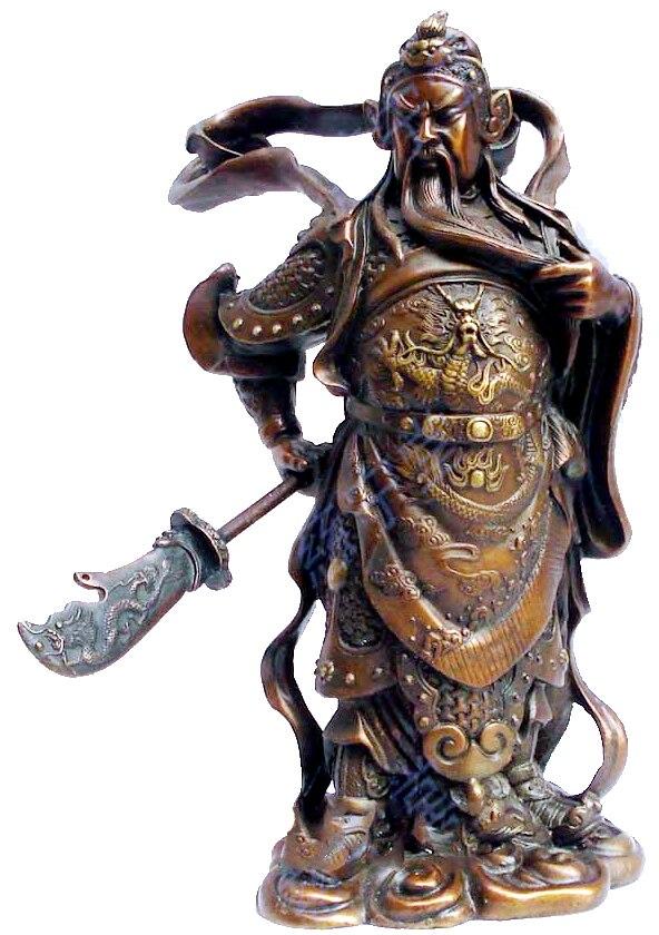 Home Furnishing Decoration Crafts copper Guan Zhai public security risks Guan Gong font b knife b
