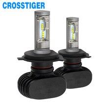 цена на Super Bright CSP 12V 50W 9003 hb2 H4 Led Bulb Car Headlight Automobiles Lamp Auto Lights High Low Beam 8000LM 6000K