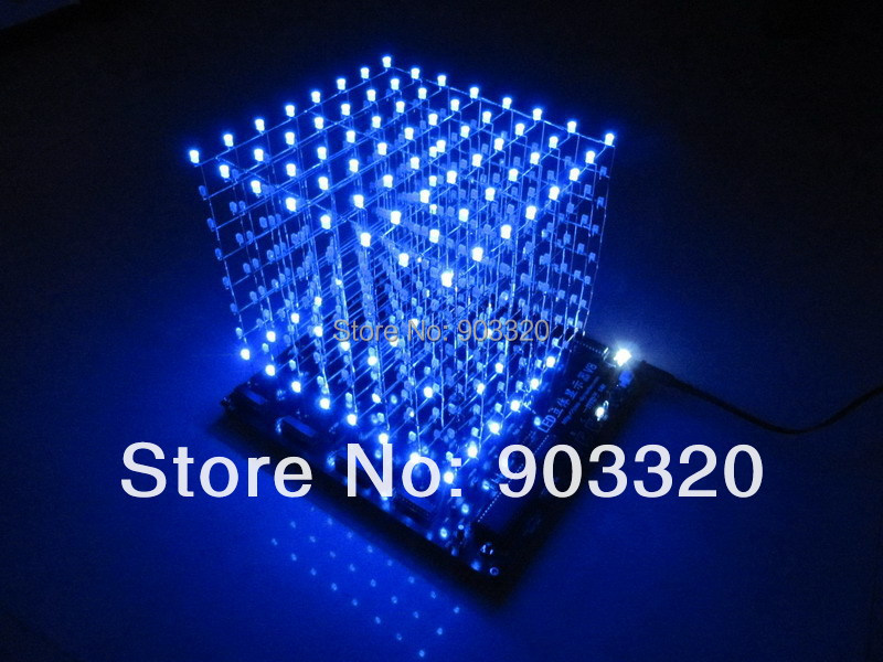cheap price assembled 3d 8s led light cube with animation effects 3d cube 8 cheap lighting effects