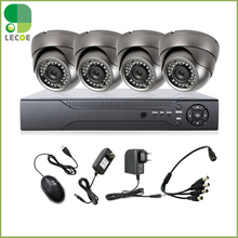 4CH DVR 4pcs Waterproof  Outdoor dome 1200TVL CCTV Home Security  IR-CUT Outdoor NightVision Camera Alarm System