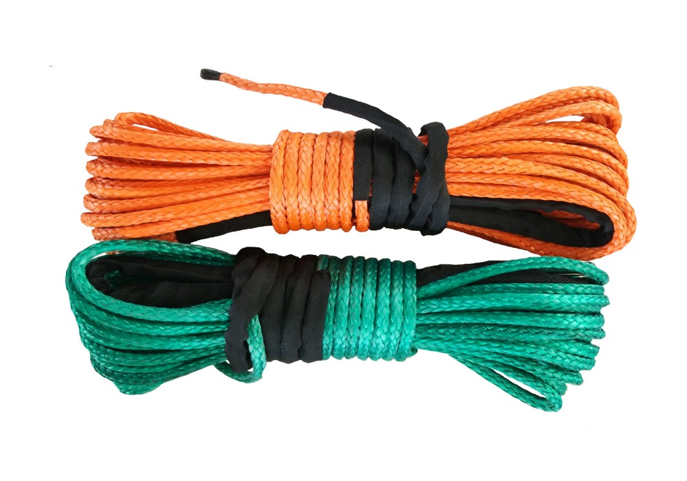 Free Shipping 2 units 516 x 100'  Synthetic Winch Line Cable Rope 13000+ LBs with Sheath (ATV UTV 4X4 4WD OFFROAD)