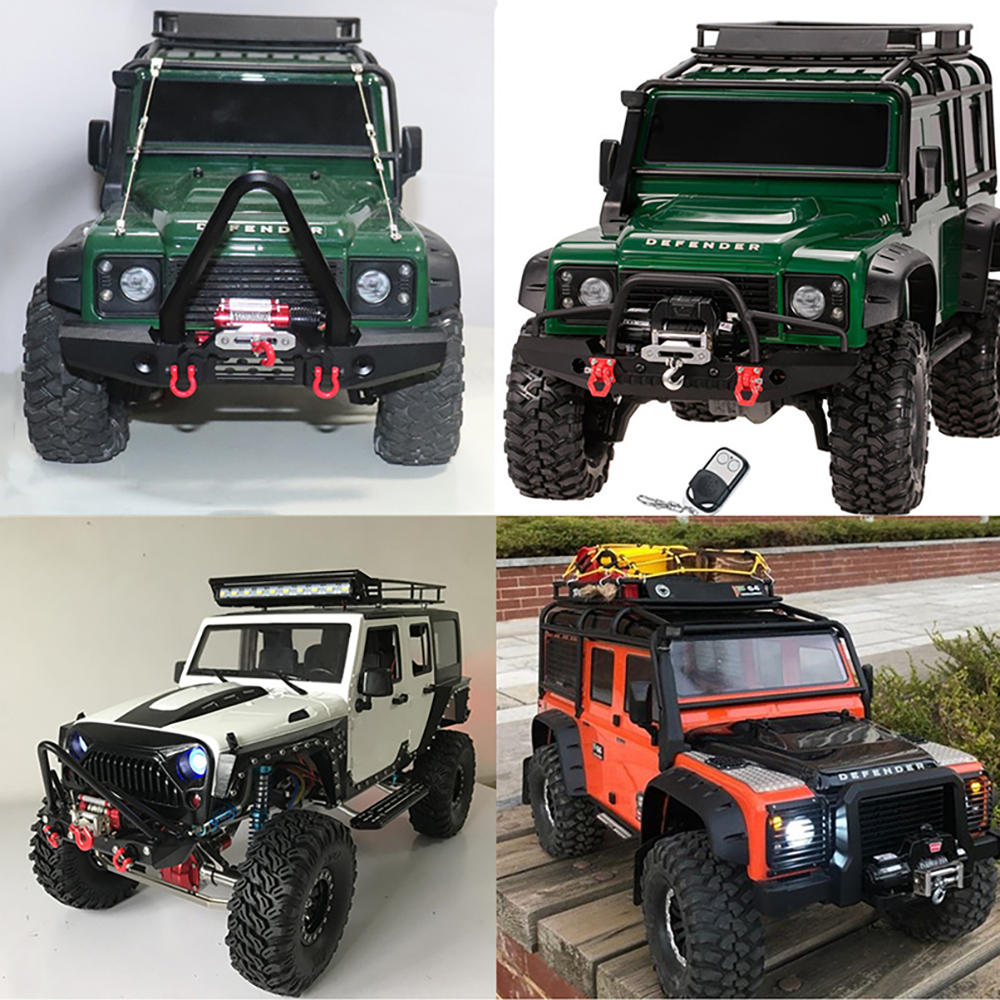 RC Front Bumper W// Control Winch /& Receiver for 1//10 Axial SCX10 RC Crawler