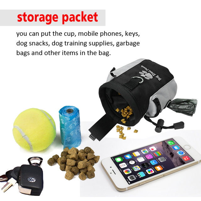 Pet Dog Training Clicker + Treat Pouch Bag and Bell Toy Set Puppy Snack Reward Waist Bag Pet Dog Training Supplies Equipment 1