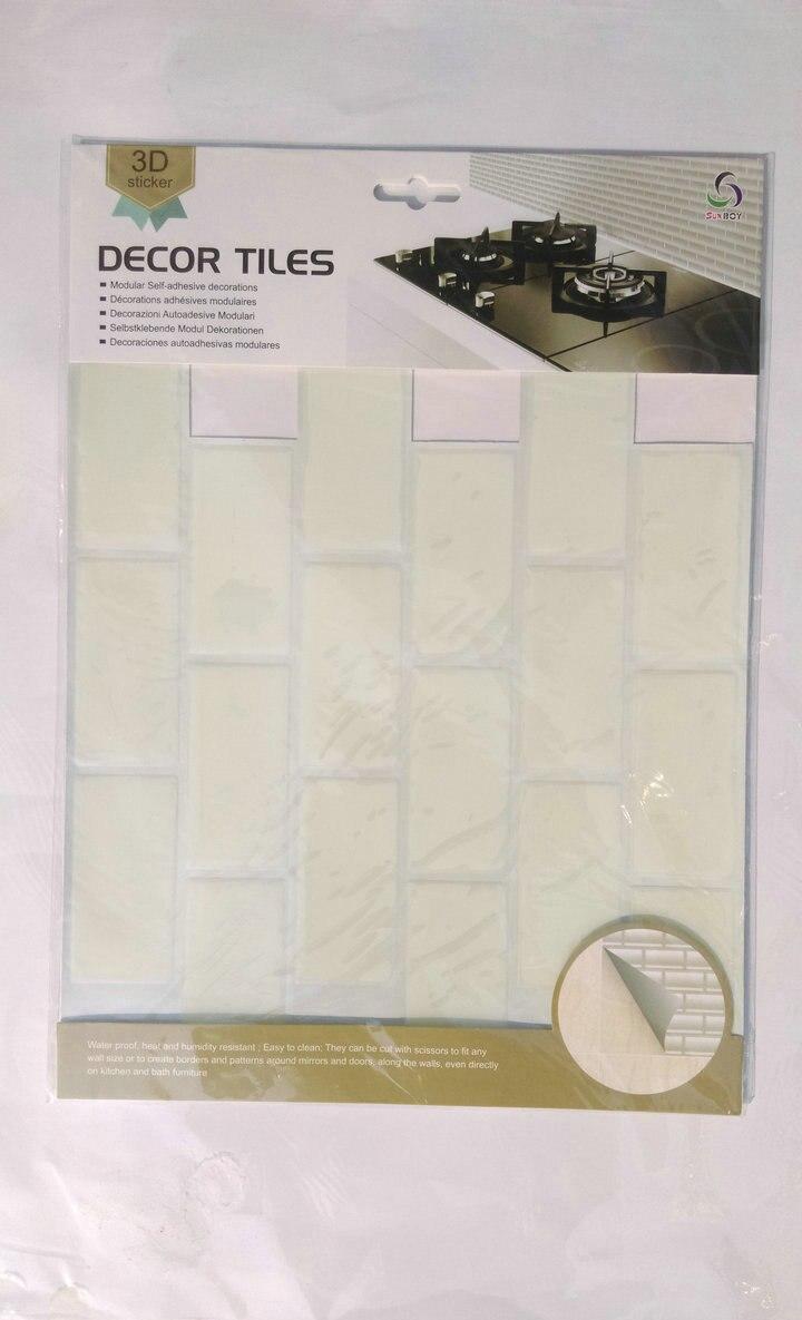 3d Adhesive Faux Tile Vinyl Peel and Stick Tiles Subway Tile ...