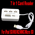 NI Combo Memory Card Reader M2 SD MMC MS Micro SD 3 Ports USB 2.0 Hub For Laptop