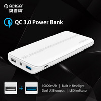 ORICO 10000mAh QC2 0 Power Bank External Battery Portable Mobile Backup Bank Charger For Android IPhones