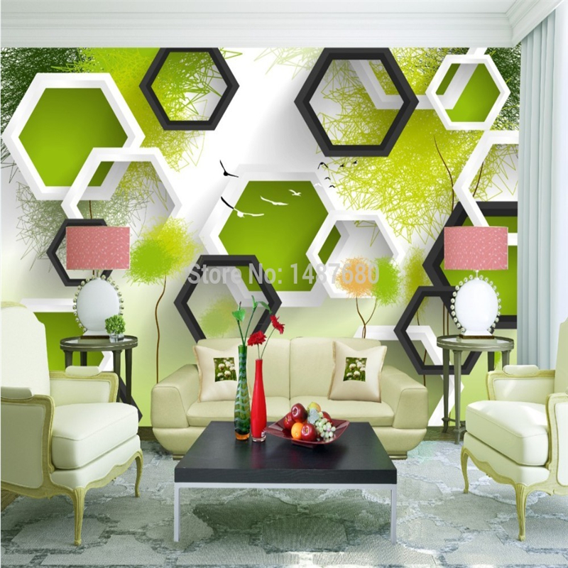 Beibehang custom 3d abstract modern photo wallpaper murals for Abstract mural wallpaper