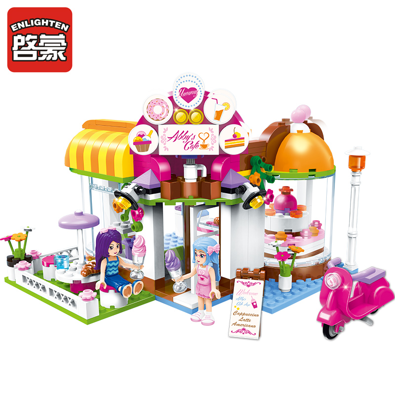 Enlighten 2017 New 2003 building block girls friends of abby coffee house 2 figures 275 pcs educational bricks toy for girl gift enlighten building block war of glory castle knights ent witchclaw 3 figures 131pcs educational bricks toy boy gift