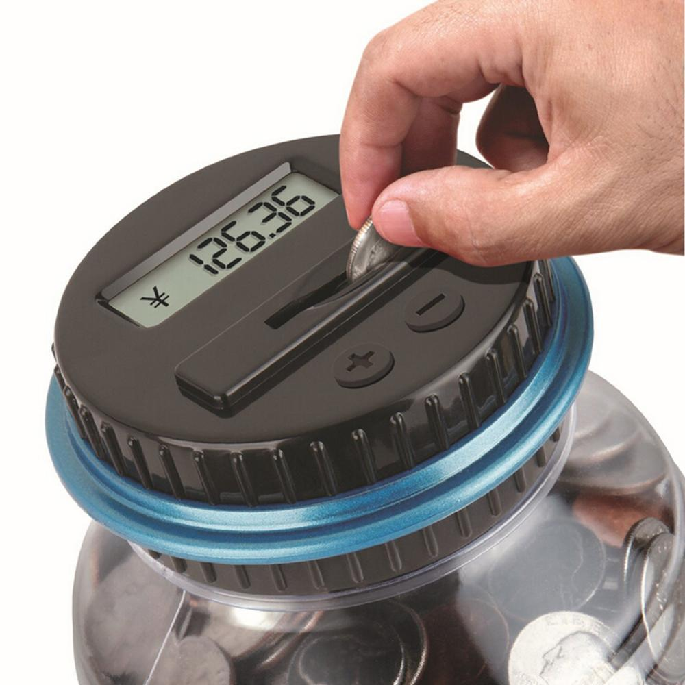 Large money boxes electronic counting coin saving pot for Big bottle coin banks