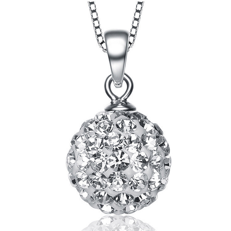 925 Sterling Silver Women Pendants Colorful 12mm Ball S925 CZ Zircon Necklace Pendants for Lady Neck Wears Drop Without Chains925 Sterling Silver Women Pendants Colorful 12mm Ball S925 CZ Zircon Necklace Pendants for Lady Neck Wears Drop Without Chains