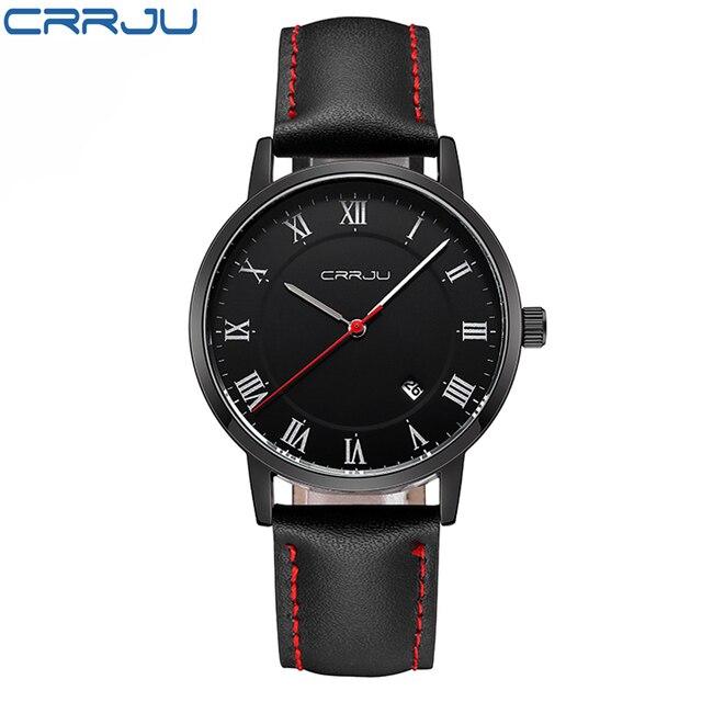 Mens Relojes de Primeras Marcas de Lujo Reloj de Cuarzo CRRJU Moda Casual de Negocios Reloj Masculino Relojes de Pulsera de Reloj de Cuarzo Relogio masculino