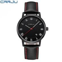 Mens Watches Top Brand Luxury Quartz Watch CRRJU Fashion Casual Business Watch Male Wristwatches Quartz-Watch Relogio Masculino