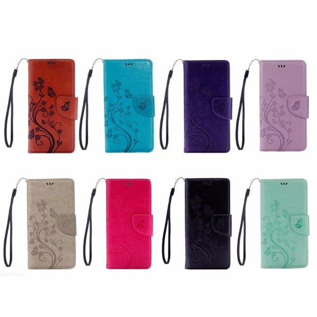 10pcs/Lot For ZTE Z981 Case, butterfly flower flip case for ZTE ZMax Pro Z981 6.0'' PU leather wallet phone back cover Conque