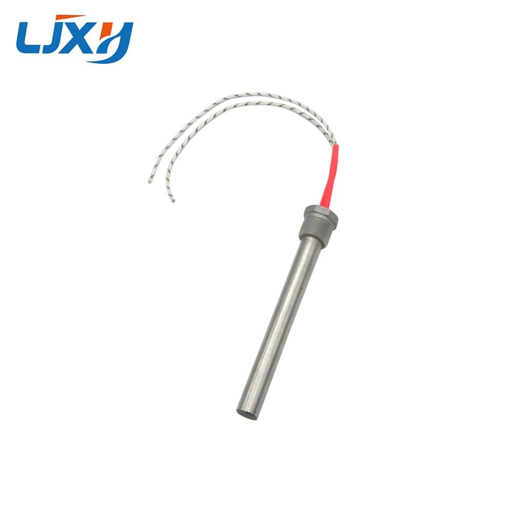 Ljxh dn15/21mm rosca cartucho aquecedor elemento de aquecimento 12x150/200mm tamanho do tubo ac110v/220 v/380 v 201 aço inoxidável