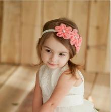 Sewing 3 Flowers Headband Kids Hair Accessories