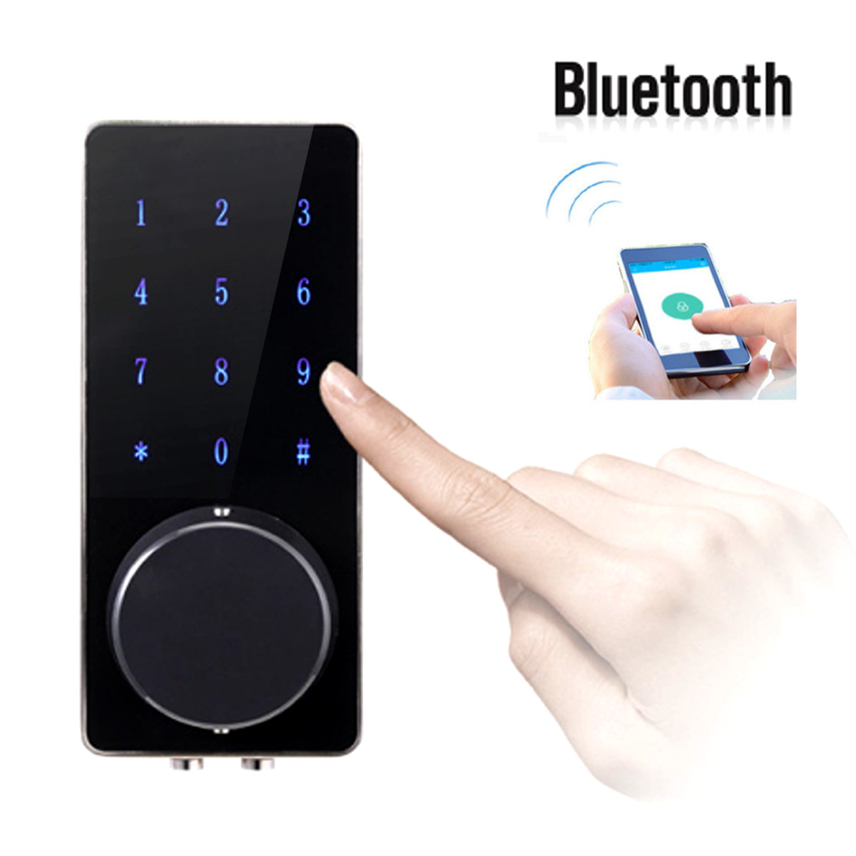 Electronic Bluetooth Smartcode Digital Door Lock Keyless Touch Password Deadbolt  For Hotel and Apartment gtf 2pcs 18650 battery 3 7v lithium batteries 6800mah capacity power bank light for torch flashlight rechargeable battery