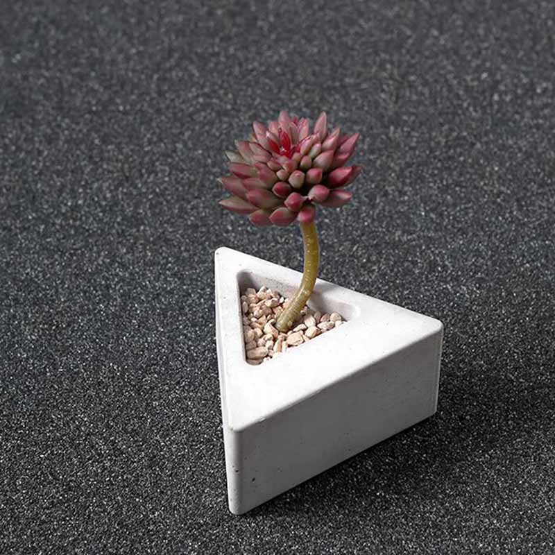US $12 46 11% OFF|Small succulent plants concrete flower pot silicone molds  DIY cement planter Silicone Rubber Vase moulds custom made moulds-in